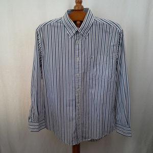Tommy Hilfiger mens shirt Sz L Blue stripes